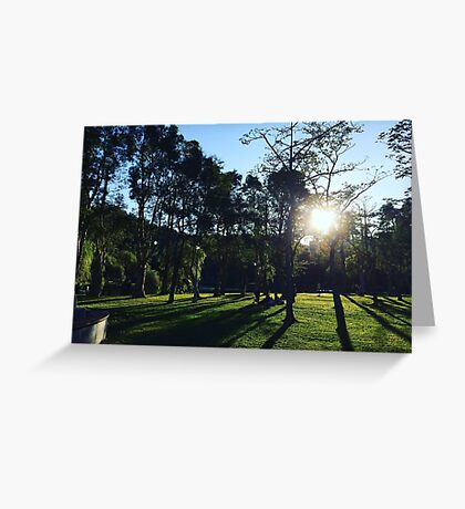 Dahu park, winter party Greeting Card