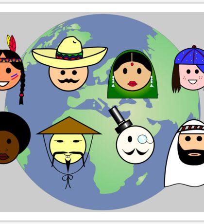 People worldwide anti racism pro diversity Sticker