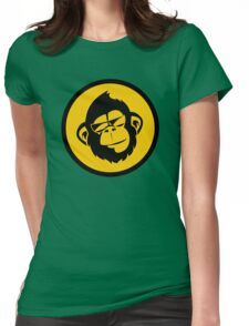 Cool Monkey  Womens Fitted T-Shirt