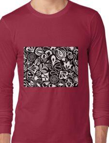 Black flower garden Long Sleeve T-Shirt