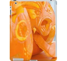 carved pumpkin for Halloween iPad Case/Skin