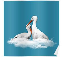 STORKS ON CLOUDS Poster