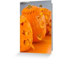 carved pumpkin for Halloween Greeting Card