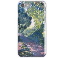 Hockney's Tunnel of Trees iPhone Case/Skin