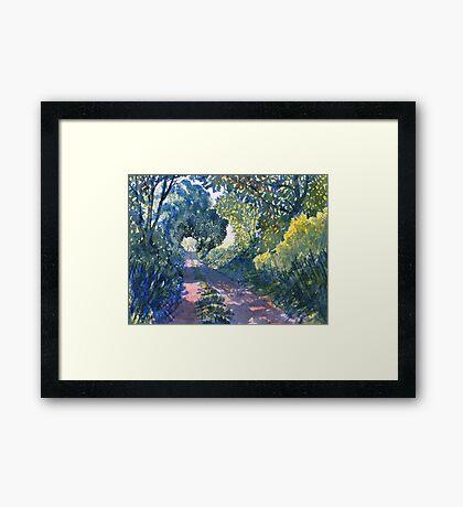 Hockney's Tunnel of Trees Framed Print