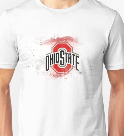Ohio State University Watercolor Logo Unisex T-Shirt