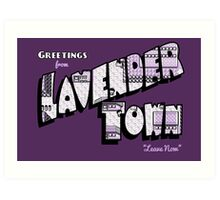 Greetings from Lavender Town Art Print