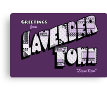 Greetings from Lavender Town Canvas Print
