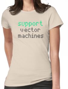 Support vector machines (green) Womens Fitted T-Shirt