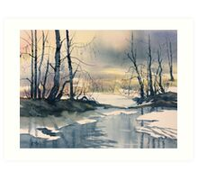 Meltwater - Skipwith Common Art Print