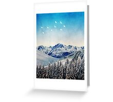 Snowy Mountain Scene - Version 1. Greeting Card
