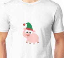 Christmas Pig Elf Unisex T-Shirt