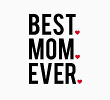 Best mom ever, word art, text design with red hearts  Womens Fitted T-Shirt