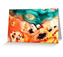 Abstract Art - Just Say When - Sharon Cummings Greeting Card