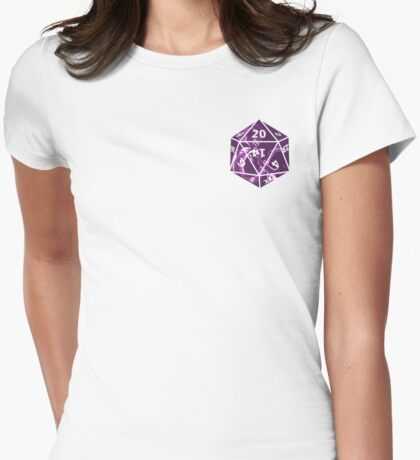 Purple Dragon D20 Womens Fitted T-Shirt