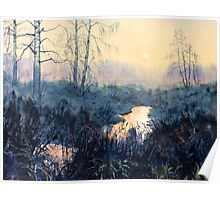 Sunset on Skipwith Common Poster