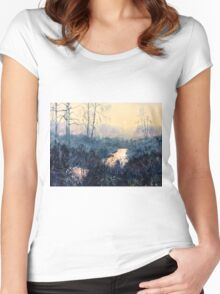Sunset on Skipwith Common Women's Fitted Scoop T-Shirt
