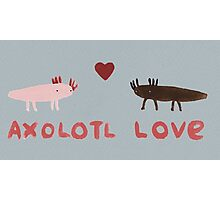 Axolotl Love Photographic Print