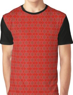 Vivid Red Abstract With Opaque Typography Graphic T-Shirt