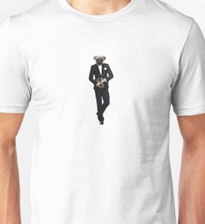 Pug in a Tuxedo / Licence to kill Unisex T-Shirt