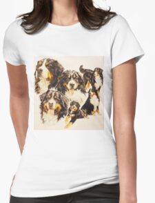 Bernese Mountain Dog Womens Fitted T-Shirt