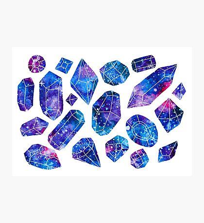 Galaxy crystals Photographic Print