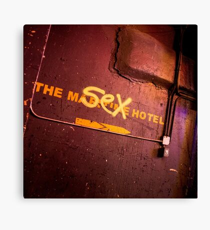 The What Motel Canvas Print
