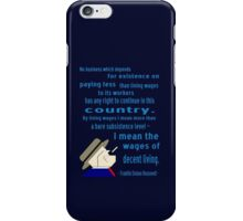 FDR on Wages iPhone Case/Skin
