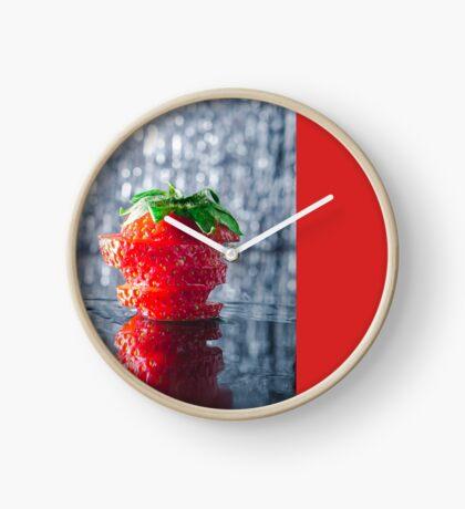 Sliced strawberry Clock