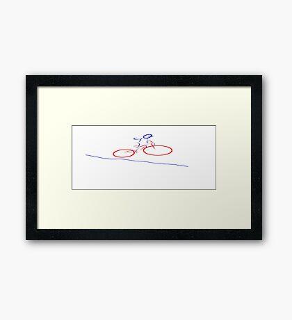 Downhill Mountain Biking 2 Framed Print