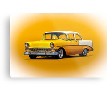 1956 Chevrolet Bel Air 'Post' Coupe Metal Print