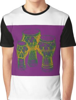 Sketch of African drums. Illustration Graphic T-Shirt