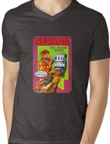 Nevada Las Vegas United States of ALF Travel Decal Mens V-Neck T-Shirt