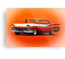 1957 Ford Fairlane Hardtop Metal Print