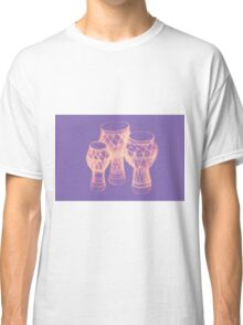 Sketch of African drums. Illustration Classic T-Shirt