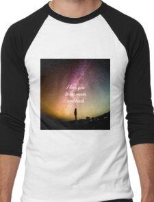 I Love You To The Moon Men's Baseball ¾ T-Shirt