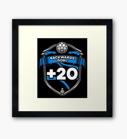 Rocket Leaugue Video Game Backwards Goal +20 Funny Gifts Framed Print