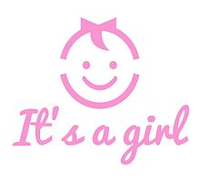 it's a girl design with cute face icon  by beakraus