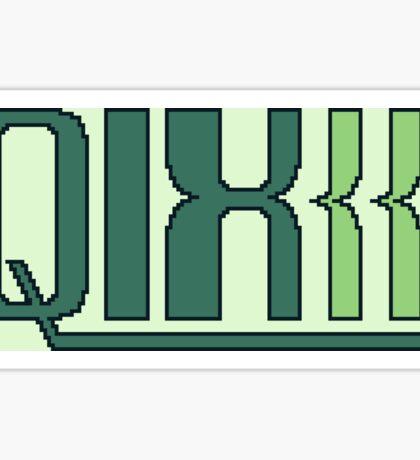 Qix (Game Boy Title Screen) Sticker