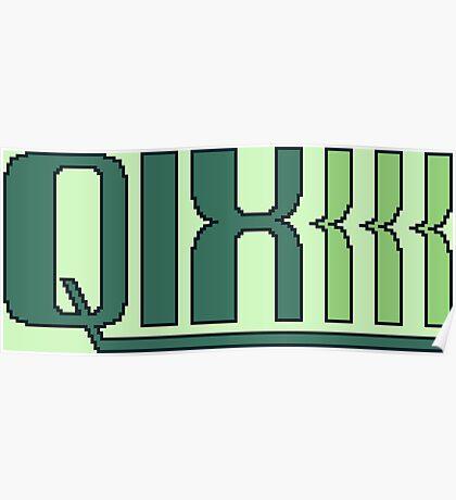 Qix (Game Boy Title Screen) Poster
