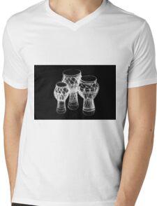 Sketch of African drums. Illustration Mens V-Neck T-Shirt