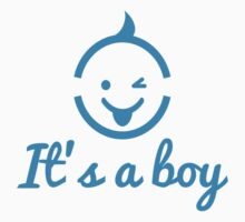 it's a boy design with cute face icon  Kids Clothes