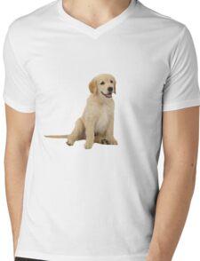 Cute Golden Retriever Mens V-Neck T-Shirt