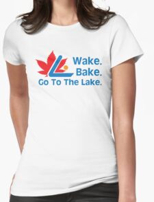 Defending Awesome - Wake Bake Go To The Lake Womens Fitted T-Shirt