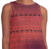 Red aztec native geometric pattern  Contrast Tank