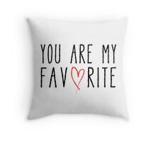 You are my favorite text design with red scribble heart Throw Pillow