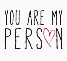 You are my person, text design with red scribble heart Kids Clothes