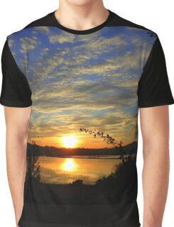 Inch Island Evening Sky......................Ireland Graphic T-Shirt