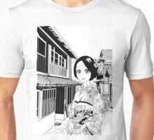 Kimono girl (manga style drawing) Unisex T-Shirt