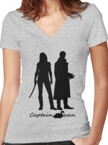 Captain Swan version 1 Women's Fitted V-Neck T-Shirt